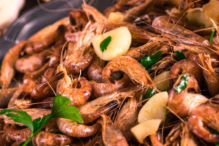 gambas: North Sea shrimps with garlic