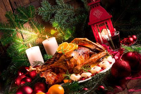 beine spreizen: Weihnachtsente Lizenzfreie Bilder
