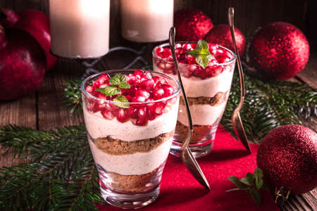Pomegranate -Mascarpone dessert