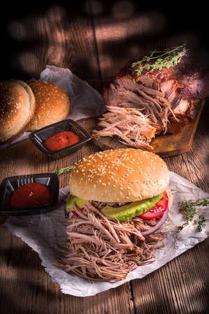 pork: Hamburger pulled pork
