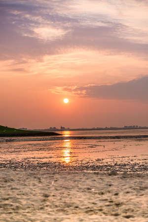 wadden: sunset on the Wadden Sea