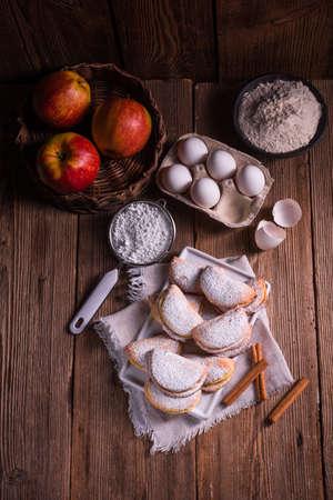 fruity: fruity apple cinnamon moistbiscuits