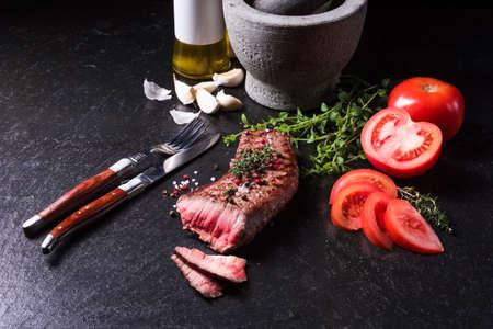 juicy: Juicy grilled steak Stock Photo