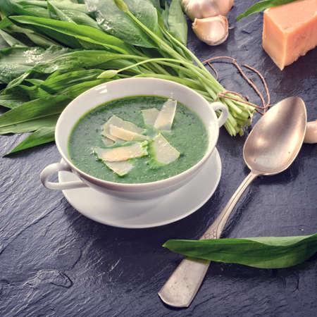 Parmesan: Wild garlic soup with parmesan