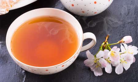 black: black tea