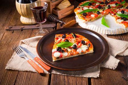 margarita pizza: Wild garlic - margarita pizza