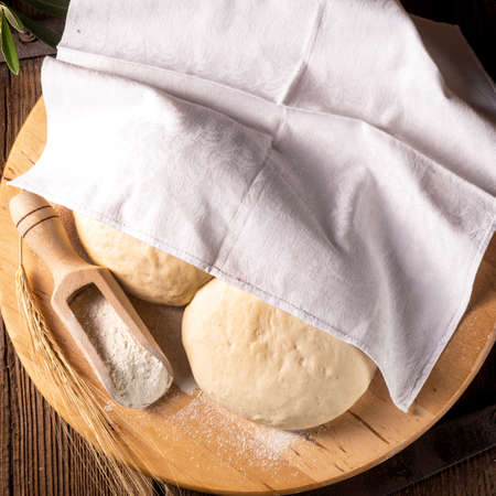 pizza dough: Pizza dough Stock Photo