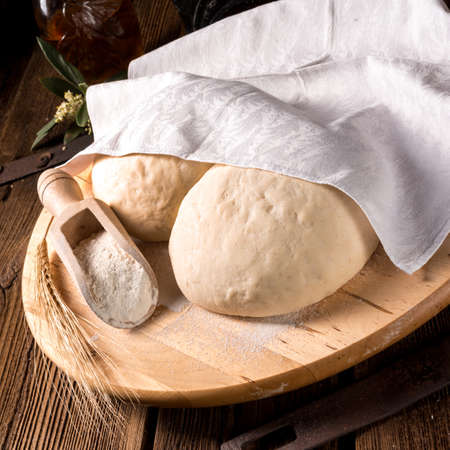 the dough: Masa de pizza