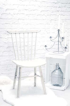 style advice: chair high key Stock Photo