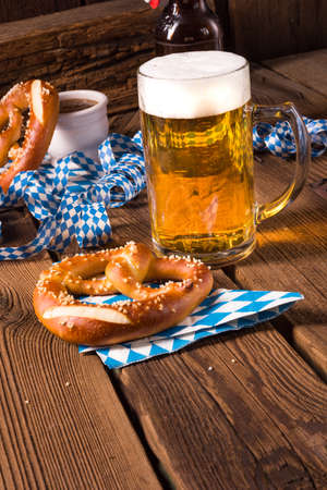 pretzel: oktoberfest pretzel and beer