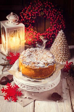 Christmas Cheesecake Stock Photo