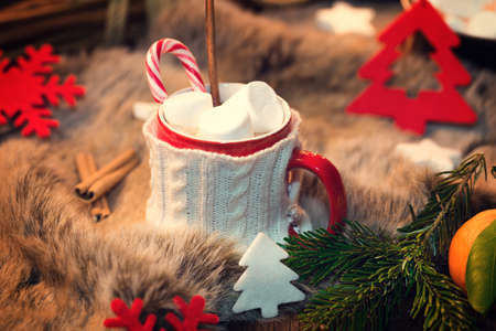 comfort food: Hot chocolate with marshmallows