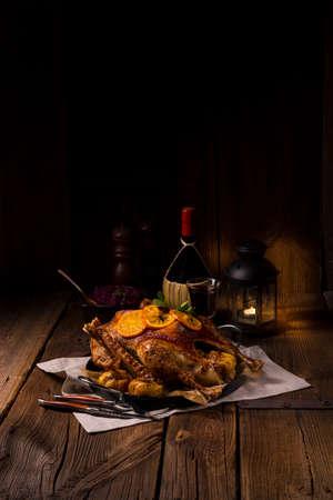 polen: Crispy Roast goose Stock Photo