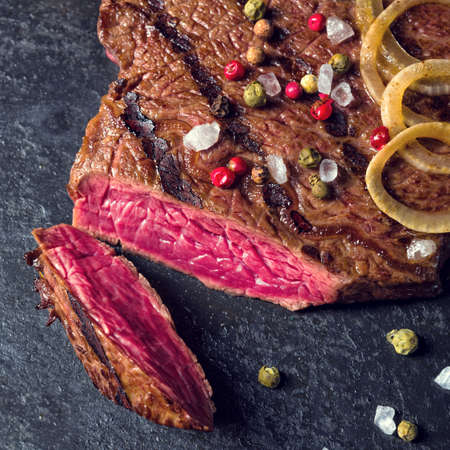 grid: grilled steaks