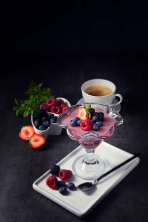 made in germany: Delicious pudding with wild berry