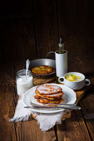 sweetened: sweetened potato pancakes