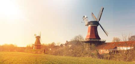 East Frisian mills Stock Photo - 82569317