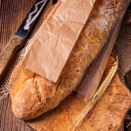 homemade baguette Stock Photo