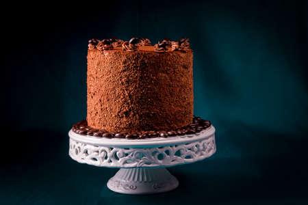 Delizioso cioccolato - torta al caffè Archivio Fotografico - 87761376