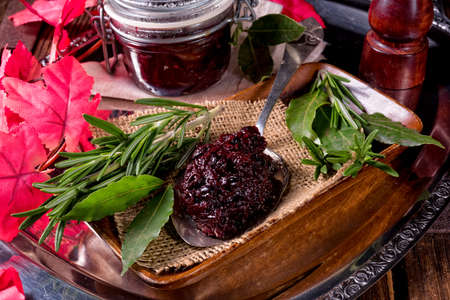 cranberry chutney with red beet