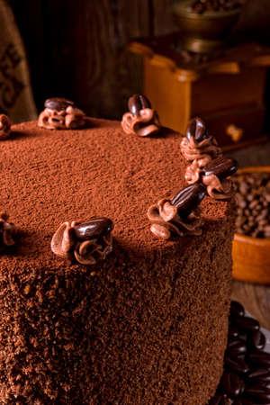 delicious chocolate - coffee pie Stock Photo