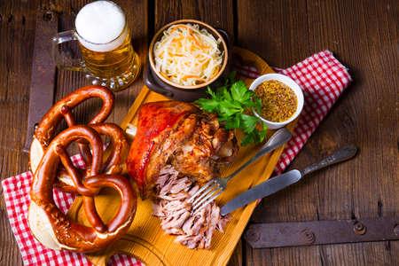 crisp and crusty original Eisbein in Bavarian