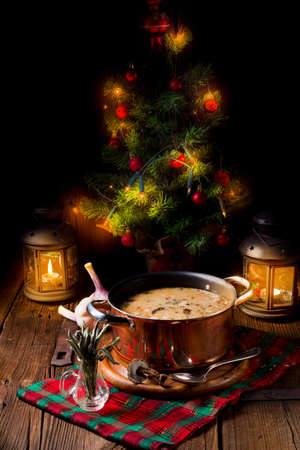a christmas mushroom soup of polish style Stock Photo