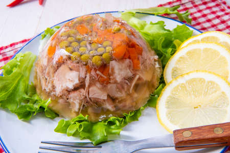 tasty aspic  with pork knuckle and pork legs