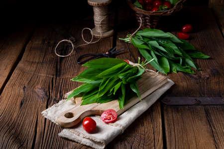allium ursinum fresh ramson with lots of valuable vitamins 写真素材