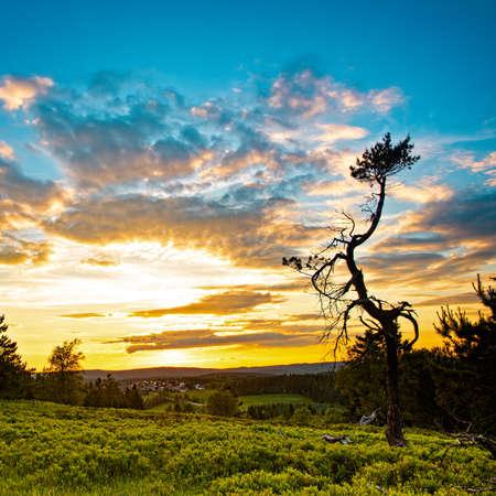 a german Beauty Rothaar Mountains Stock Photo