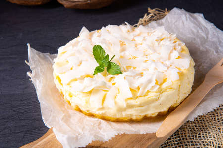 a simple quark coconut cake from the tin