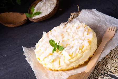 a simple quark coconut cake