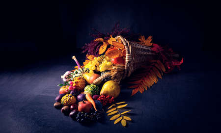 The beautiful and autumnal cornucopia 版權商用圖片 - 133295399