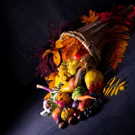 The beautiful and autumnal cornucopia Stock Photo