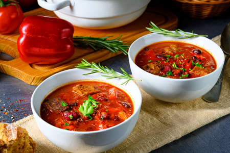 Spicy Mexican style beef with beans