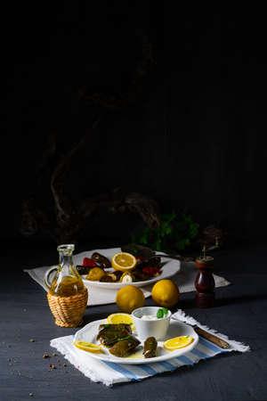 Dolmades - stuffed grape leaves the Greek way