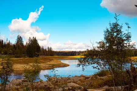 summery Odertal in the Harz Mountains Stok Fotoğraf