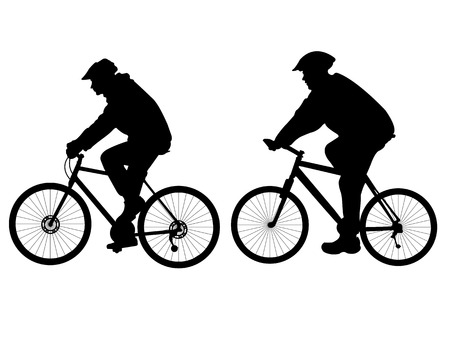 bicycling: people riding bicycle Illustration
