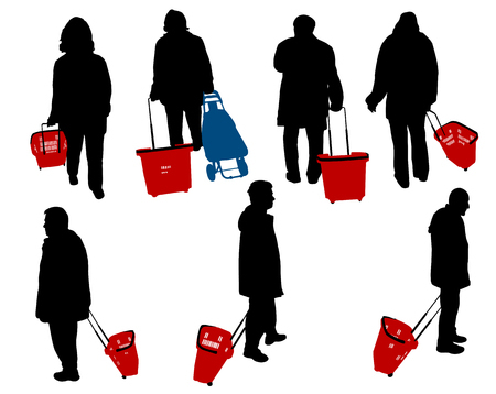 people in shopping