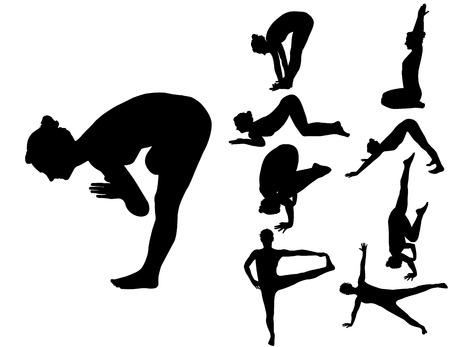 joga: yoga 2 vector silhouette