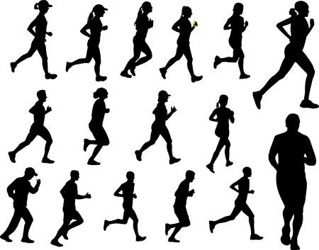 gente corriendo silueta