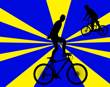 bicycle stunt 2 vector silhouette Ilustração