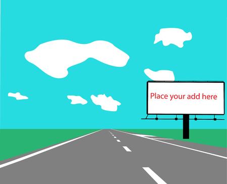 bilboard: bilboard color vector silhouette
