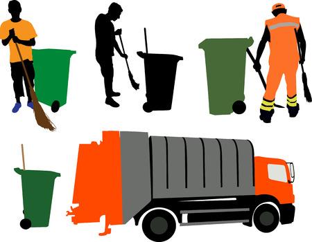 basura: garbageman vector silueta