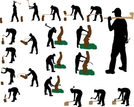 lumberjack vector silhouette