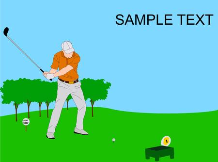 golf tournamnet flyer illustration