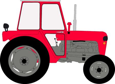 tillage: tractor illustration vector Illustration