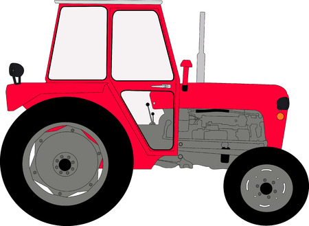 tractor illustration vector Ilustração