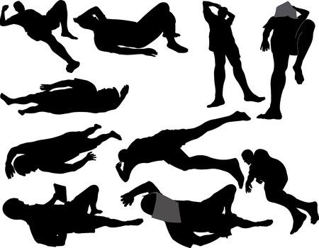 catnap: man sleeping Illustration