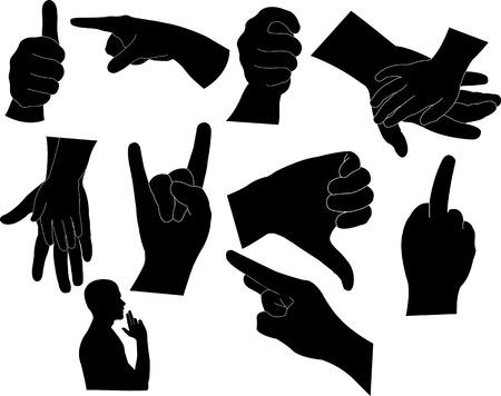 hands 2 vector silhouette